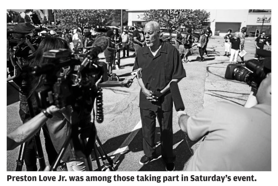 Preston Love Jr. at voter id protest